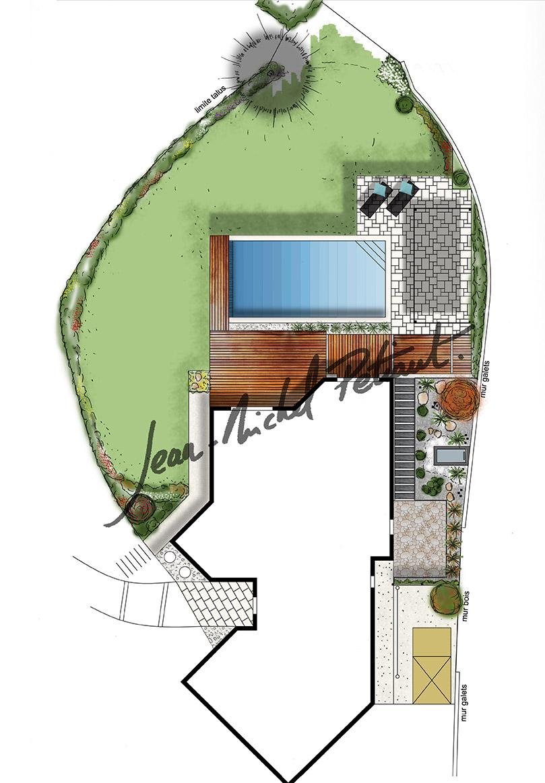 Jardin de maison rénovée